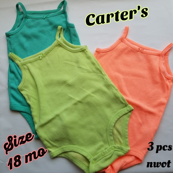 496a26160 Carter's One Pieces | Carters Baby Girl Tank Bodysuits Lot Size 18 ...